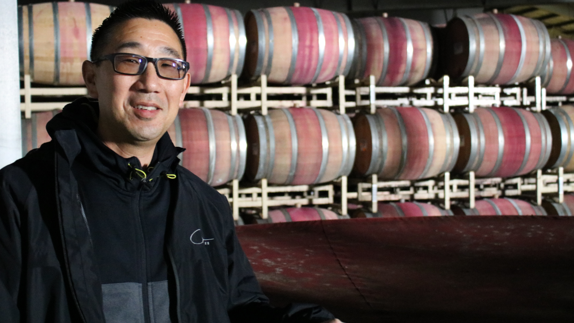 winemaker in cellar