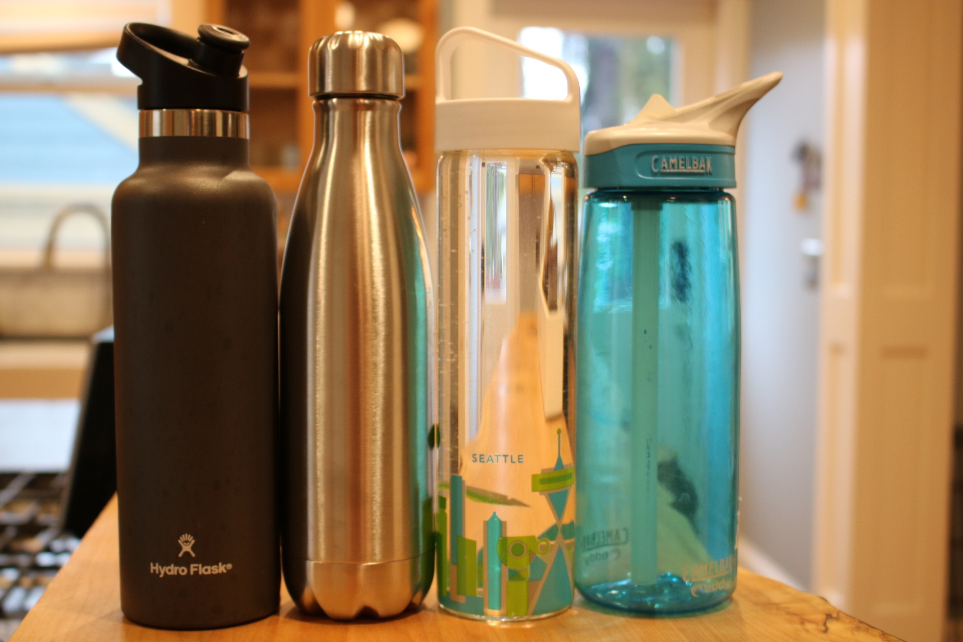 Various Water Bottle Choices